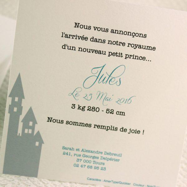 Faire part Naissance 89379 Bleu Petit prince Faire Part Selection 2