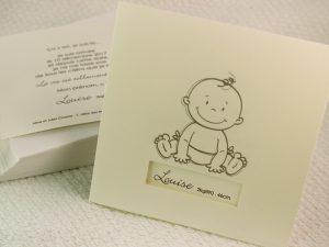 Faire part Naissance 89382 Creme Bébé sourire Faire Part Selection