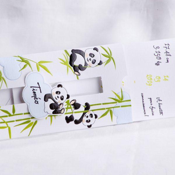 Faire part Naissance 89403 Tirette La famille panda Faire Part Selection 2