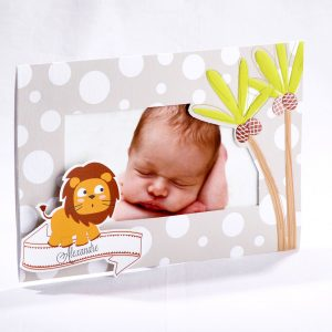 Faire part Naissance 89407 Gris Lion ou giraphon Faire Part Selection