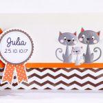 Faire part Naissance 89416 Graphique La famille chat Faire Part Selection 3