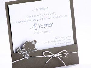 Faire part Naissance 89422 Gris Me voilà Faire Part Selection