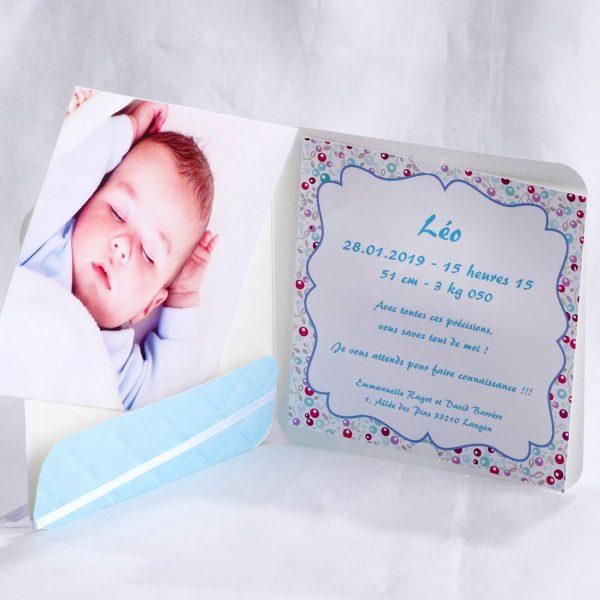 Faire part Naissance 89425 Bleu La vie en bleu Faire Part Selection 2