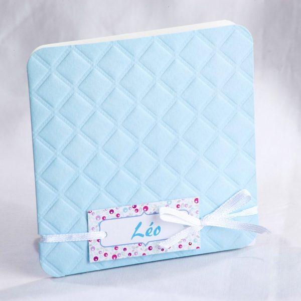 Faire part Naissance 89425 Bleu La vie en bleu Faire Part Selection