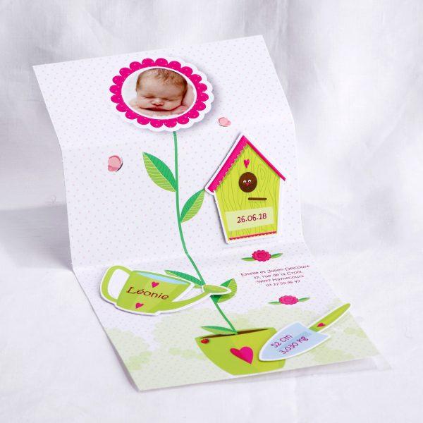 Faire part Naissance 89446 Colore Petite fleur Faire Part Selection 2