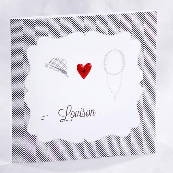 Faire part Naissance 89451 Graphique 1+1= Faire Part Selection