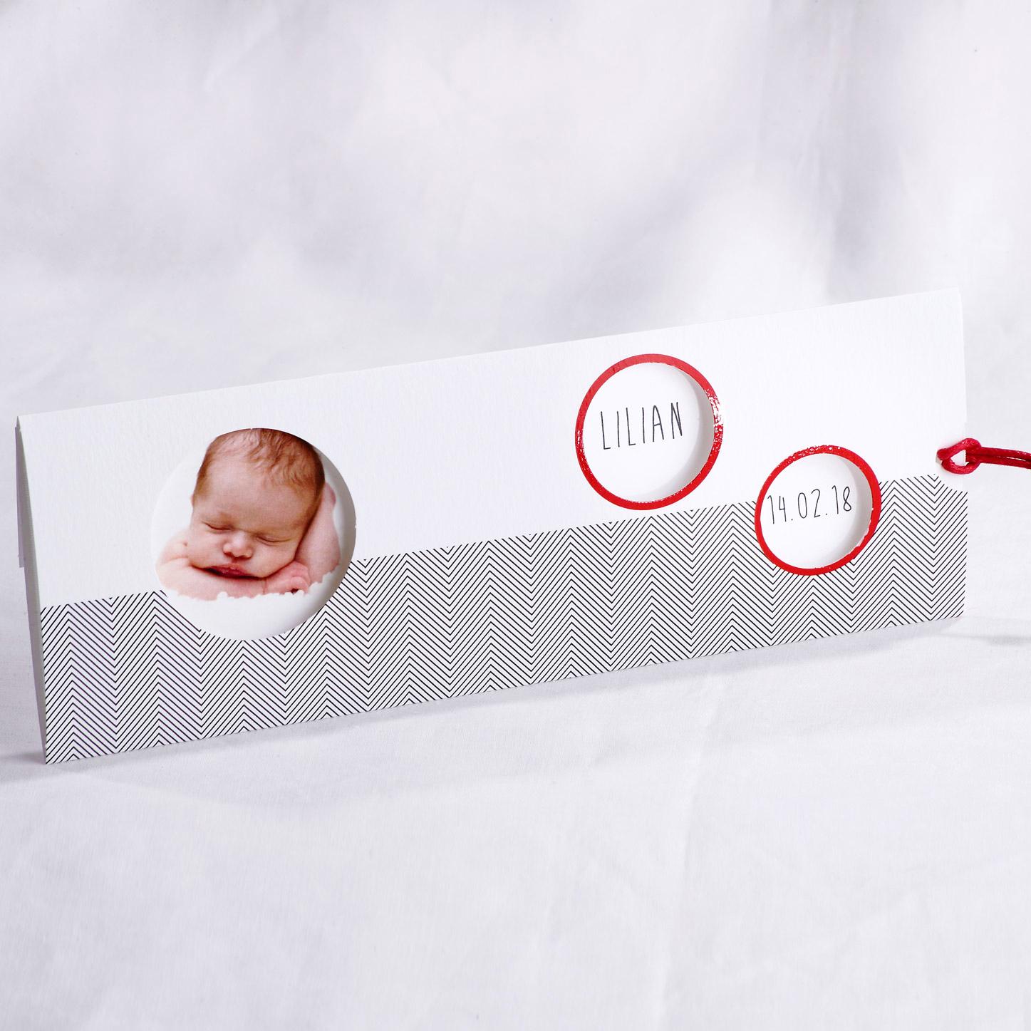 Faire part Naissance 89452 Tirette Trendy baby Faire Part Selection