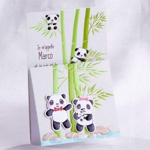 Faire part Naissance 89457Animaux Dans les bambous Faire Part Selection