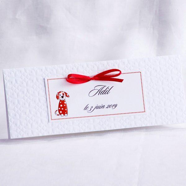 Faire part Naissance 89470CHIEN Blanc Petit chien Faire Part Selection