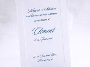 Faire part Naissance 89471 Blanc Carton cadre blanc Faire Part Selection