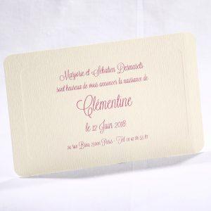 Faire part Naissance 89472 Ivoire Carton cadre ivoire Faire Part Selection
