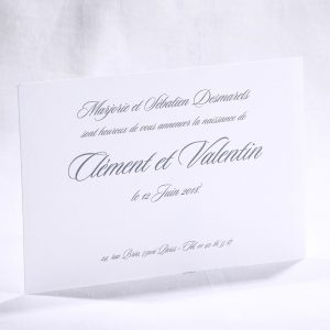 Faire part Naissance 89473 Blanc Carton simple blanc Faire Part Selection