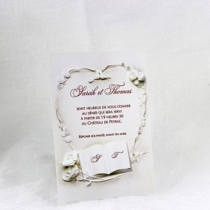 Invitation Mariage 57657 Ivoire Colombes Faire Part Selection