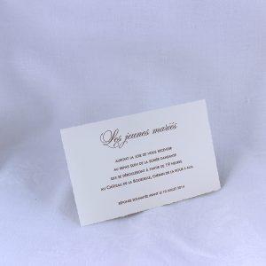 Invitation Mariage 58536 Ivoire Purete Faire Part Selection