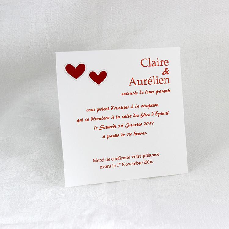 Invitation Mariage 59413 Coeur Patchouli Faire Part Selection