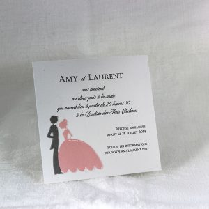 Invitation Mariage 59420 Rose Gris Lilas Faire Part Selection