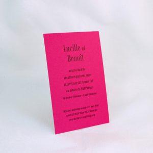 Invitation Mariage 59456 Fuchsia Framboise Faire Part Selection