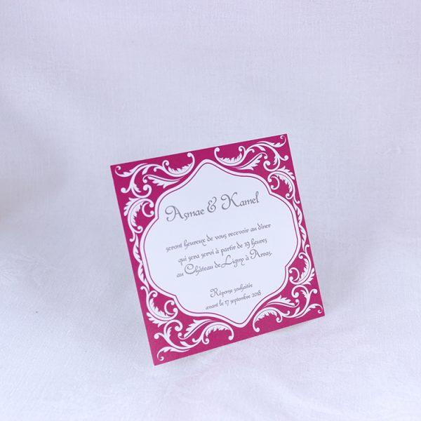Invitation Mariage 59464 Orient Fuchsia Faire Part Selection