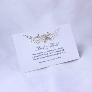 Invitation Mariage 59465 Or Santal Faire Part Selection