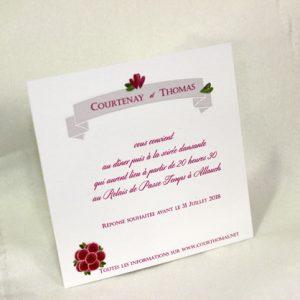 Invitation Mariage 59509 Romantique Tristan et Iseult Faire Part Selection