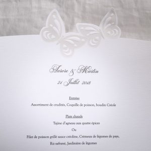 Menu Mariage 19502 Blanc Fly me to the moon Faire Part Selection