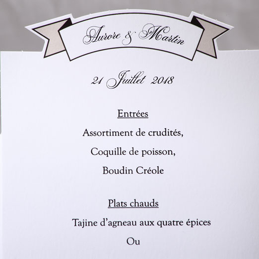 Menu Mariage 19504 Blanc Marry You Faire Part Selection 3