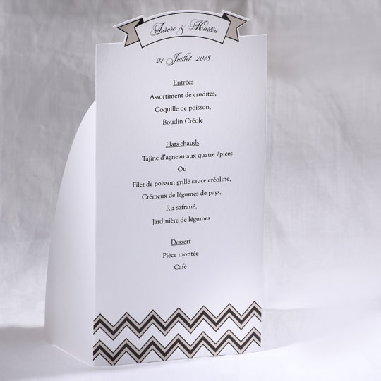 Menu Mariage 19504 Blanc Marry You Faire Part Selection
