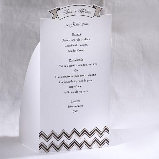 Menu Mariage 19504 Blanc Marry You Faire Part Selection