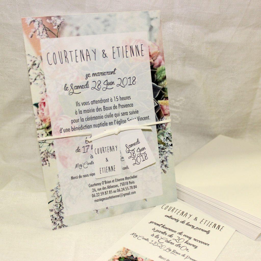 Faire part Mariage 33005 Fleurs Succulente Faire Part Selection