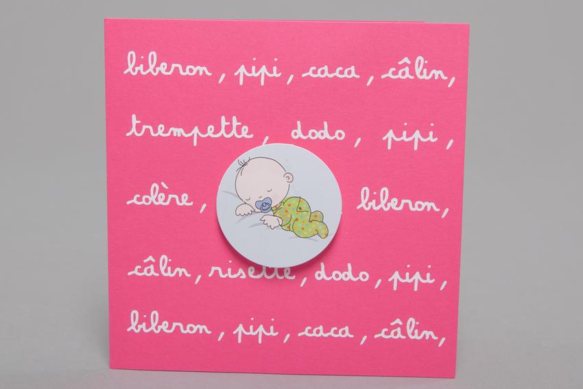 Faire part Naissance 89257 Rose Les ptits mots fille Faire Part Selection