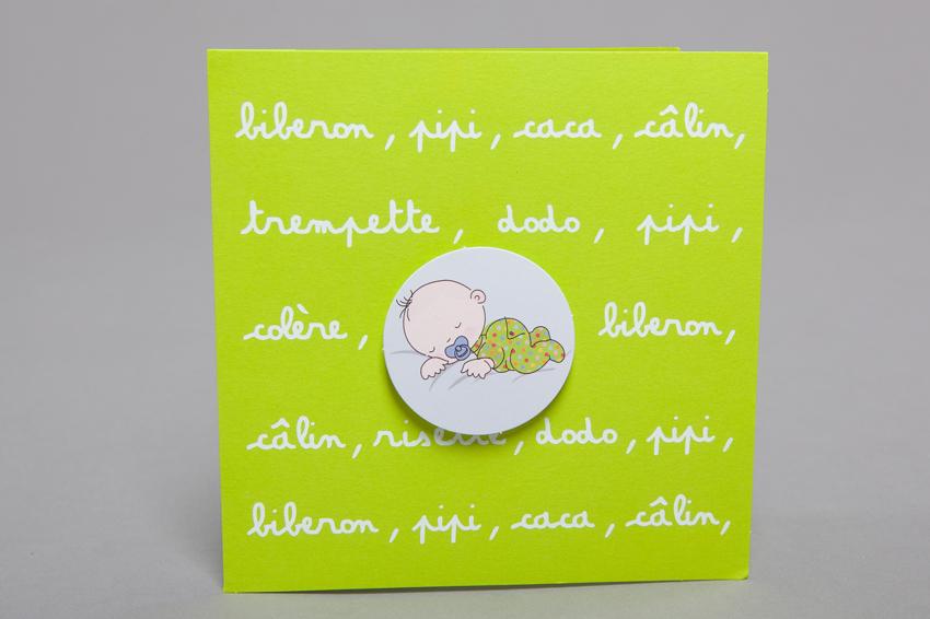 Faire part Naissance 89258 Vert Les ptits mots garcon Faire Part Selection