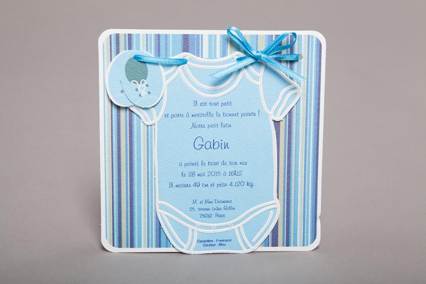 Faire part Naissance 89270 Bleu Body bleu Faire Part Selection