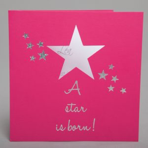 Faire part Naissance 89279 Fuchsia A star is born Faire Part Selection