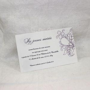Invitation Mariage 59313 Violet Raisons & Sentiments Faire Part Selection