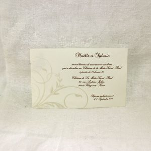 Invitation Mariage 59342 Ivoire Gone with the wind Faire Part Selection