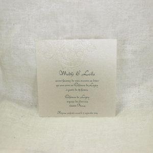 Invitation Mariage 59360 Dentelle La delicatesse Faire Part Selection