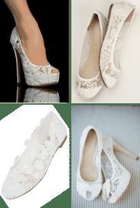 Mariage Dentelle Chaussure Faire Part Selection