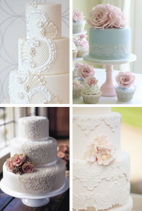 Mariage Dentelle Wedding cake Faire Part Selection